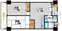 ハイツ天王寺1号館[1階]の間取り
