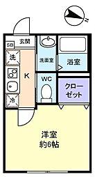 勝田台PD III[1階]の間取り
