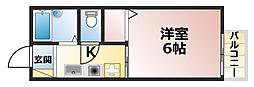 メゾンルナ[2階]の間取り