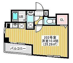 BRIGHT FUTURE 東大島 2階1Kの間取り