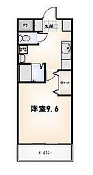 リバティマンション[1-C号室]の間取り