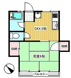 根岸ハウス[2階]の間取り