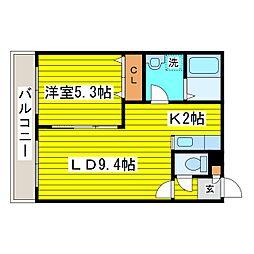 北海道札幌市東区北十条東12丁目の賃貸マンションの間取り