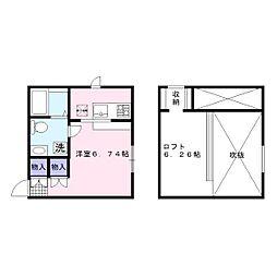 PRIMA La mia casa[1階]の間取り