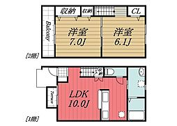 [タウンハウス] 千葉県香取市山之辺 の賃貸【/】の間取り