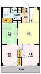 山善ビル[305号室]の間取り