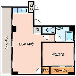 旭ヶ丘コーポラス[3階]の間取り