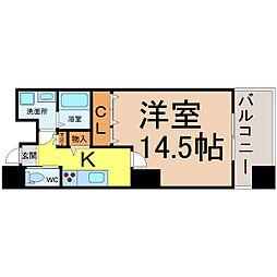愛知県名古屋市中区新栄3丁目の賃貸マンションの間取り