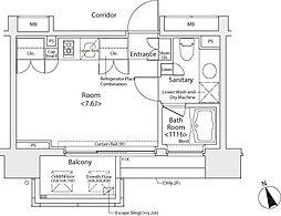 カスタリア戸越[3階]の間取り