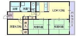 CALMO姫路東[1階]の間取り
