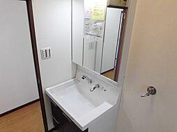 洗面室は毎朝のご準備にご活用いただけます。こちらもリフォーム済みです。