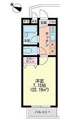 東京都町田市真光寺1丁目の賃貸アパートの間取り