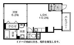 広島県広島市西区南観音1丁目の賃貸アパートの間取り