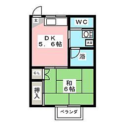 コーポ秋元B[2階]の間取り