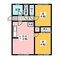 シャレードM[2階]の間取り