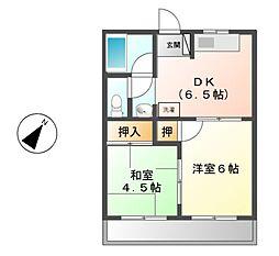 ブラザーハイツ豊田[2階]の間取り