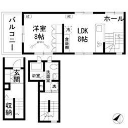 メゾン桜坂 bt[302kk号室]の間取り