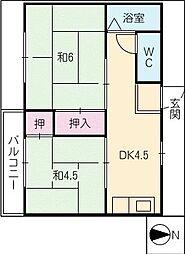 有明荘[1階]の間取り