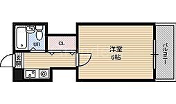 ハイムM&K徳庵[1階]の間取り