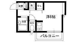 ユニティレイナ甲東園[303号室]の間取り