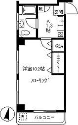松岡マンション[302号室]の間取り