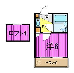 アミューズメント21芝第2[2階]の間取り