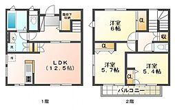 [テラスハウス] 東京都小金井市緑町4丁目 の賃貸【/】の間取り