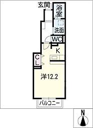 エリタージュII[1階]の間取り