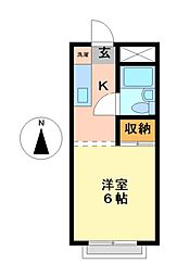 愛知県名古屋市瑞穂区十六町2丁目の賃貸アパートの間取り