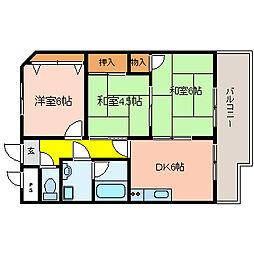 アクティ金田[4階]の間取り