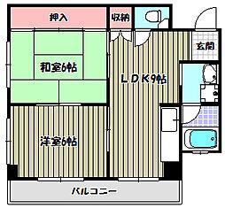金剛東マンション[2階]の間取り