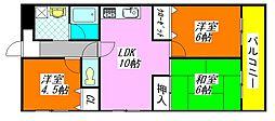 プリマヴェーラ・高井田 305号室[3階]の間取り