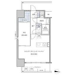 名鉄名古屋本線 山王駅 徒歩6分の賃貸マンション 6階1LDKの間取り