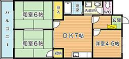 シャトレ中井[402号室]の外観