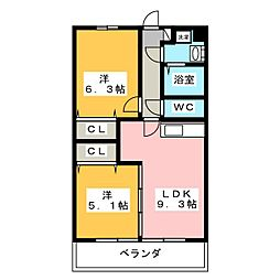 Spring House Sato[1階]の間取り