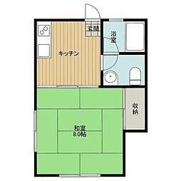石飛アパート[3号室]の間取り