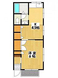 ハイツサウスエイト[2階]の間取り