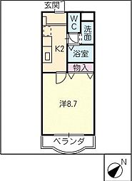 SATUユーアイ[2階]の間取り