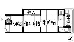 K'sハイム花屋敷[1階]の間取り