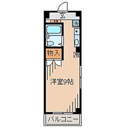 サンピア大倉山[203号室]の間取り