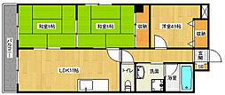 京都府京都市南区久世中久世町2丁目の賃貸マンションの間取り