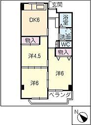 MARUMANマンション[8階]の間取り