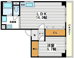 東平西原ハイツ[2階]の間取り