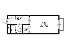 コーポヒロ[2階]の間取り