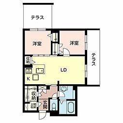 (仮称)堺市・堺区シャーメゾン向陵東町[1階]の間取り