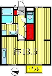 ビューテラスハイム天王台[1階]の間取り