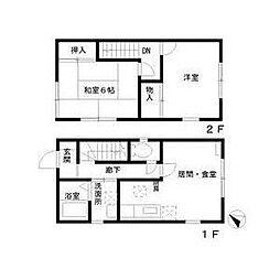 アサレアガーデン B棟[1階]の間取り