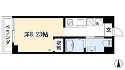 プランドール西院 3階1Kの間取り