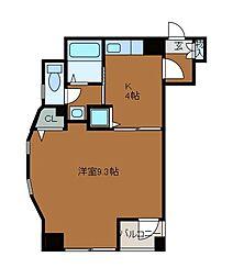 U−チャリス東林間[5階]の間取り