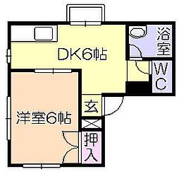 新代ハイツ[2階]の間取り